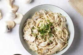 Foto van Pasta funghi