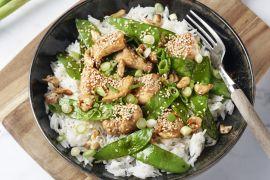 Foto van Wok van kip met cashewnoten