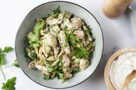 Foto van Eénpotspasta met kip, pistachenootjes en ricotta