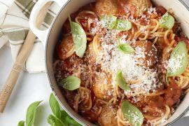 Foto van Spaghetti met gehaktballetjes