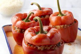 Foto van Gevulde paprika met gehakt en couscous