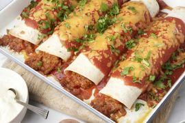 Foto van Enchiladas met gehakt