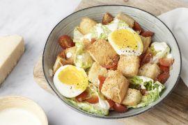 Foto van Caesar salade met parmezaancroutons