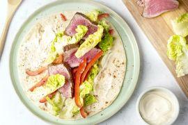 Foto van Wraps met gemarineerde biefstuk