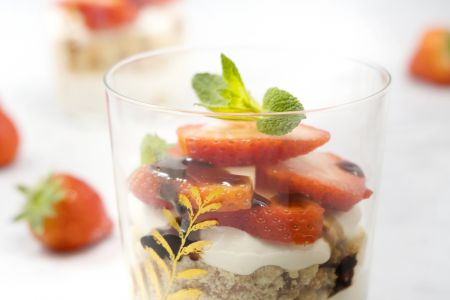 Snelle tiramisu met aardbeien