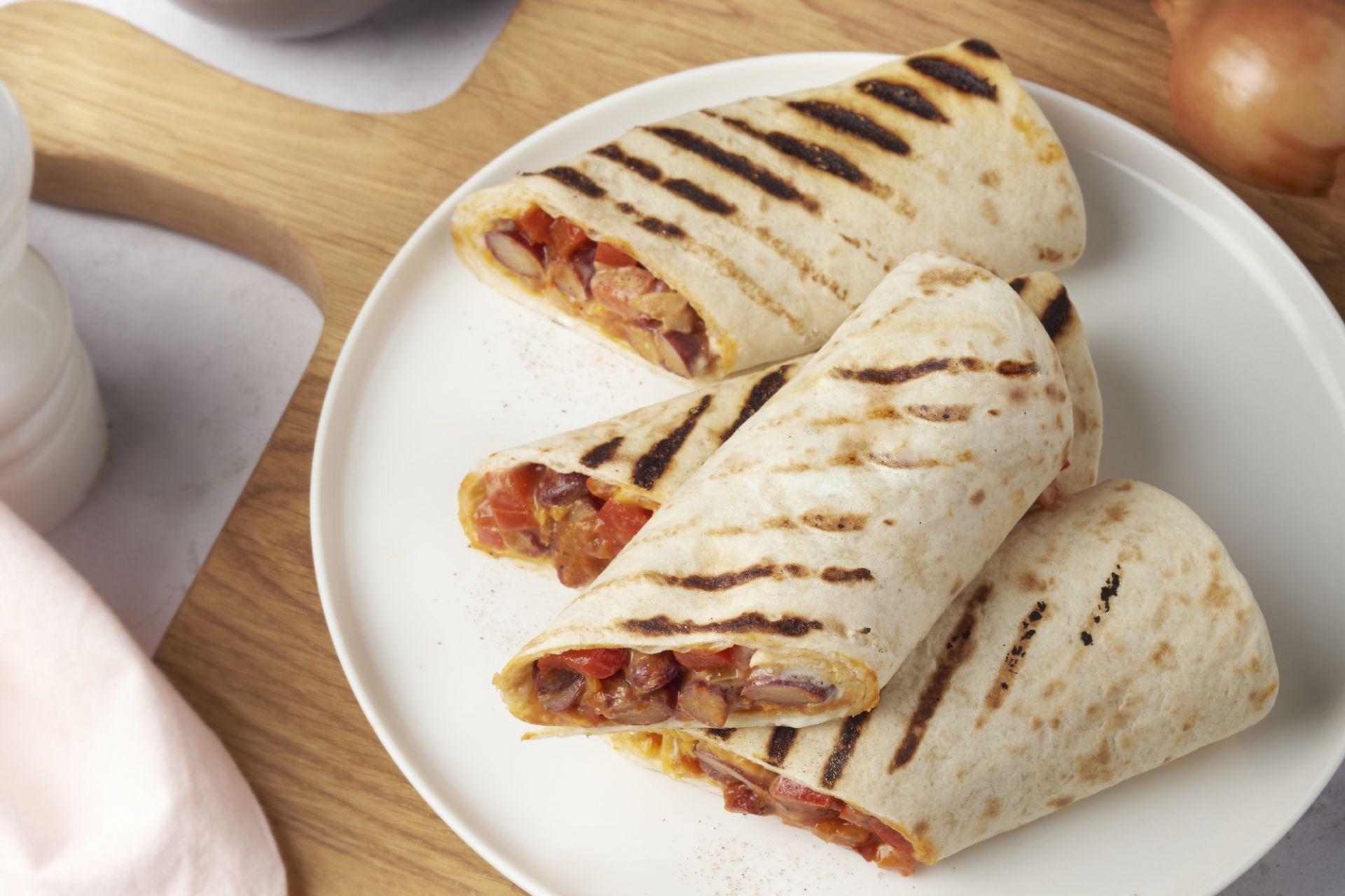 Chili sin carne burrito's