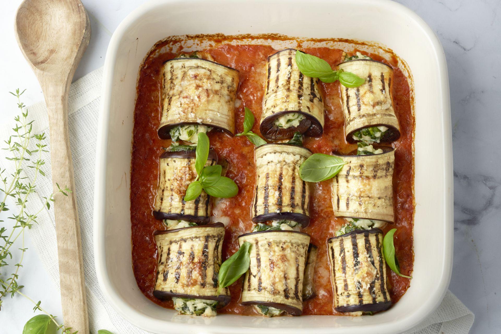 Cannelloni van gegrilde aubergine