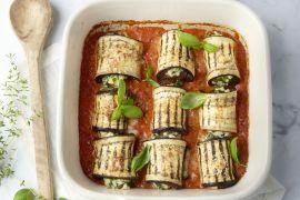 Foto van Cannelloni van gegrilde aubergine