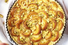 Foto van Abrikozentaart met pistaches