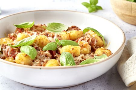 Gnocchi gratin bolognaise