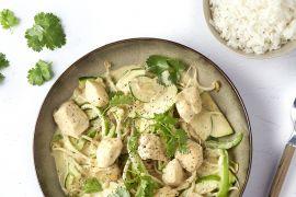 Foto van Snelle Thaise groene curry met kip
