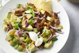 Foto van Mexicaanse salade met kip