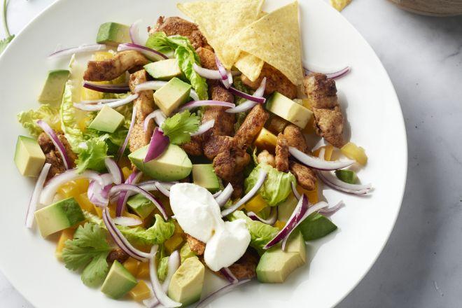 Mexicaanse salade met kip