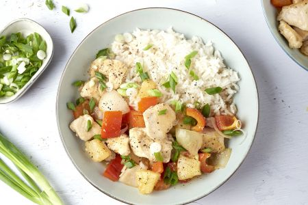 Snelle wok kip sweet chili met jasmijnrijst