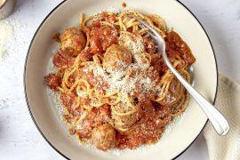 Foto van Spaghetti met balletjes