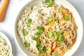 Foto van Panang curry met gehakt en rijstnoedels