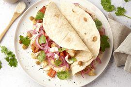 Foto van Veggie taco's met geroosterde groenten