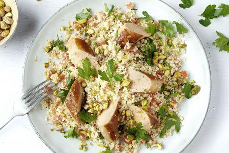 Tabouleh met kippenworst