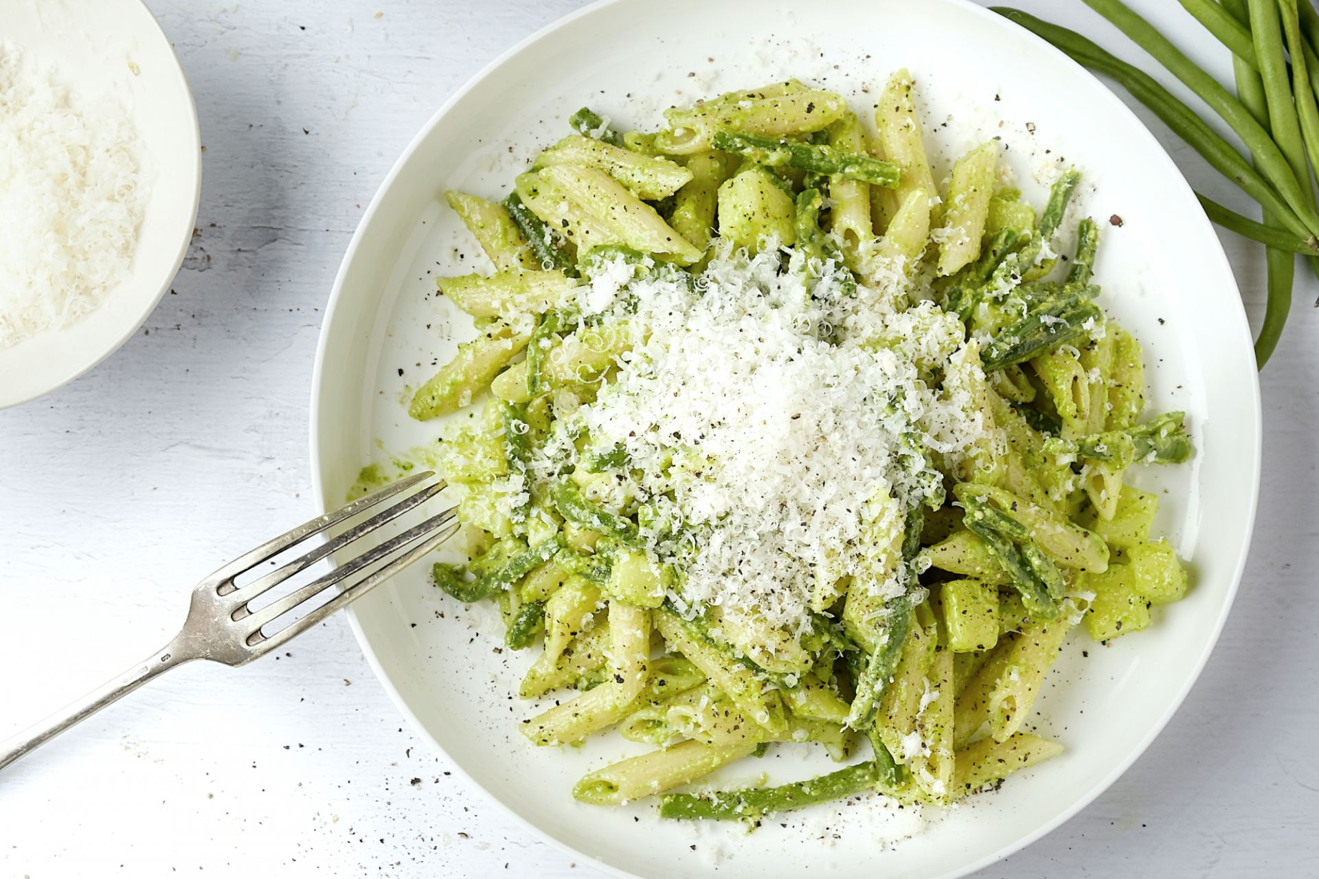 De authentieke pasta pesto alla Genovese