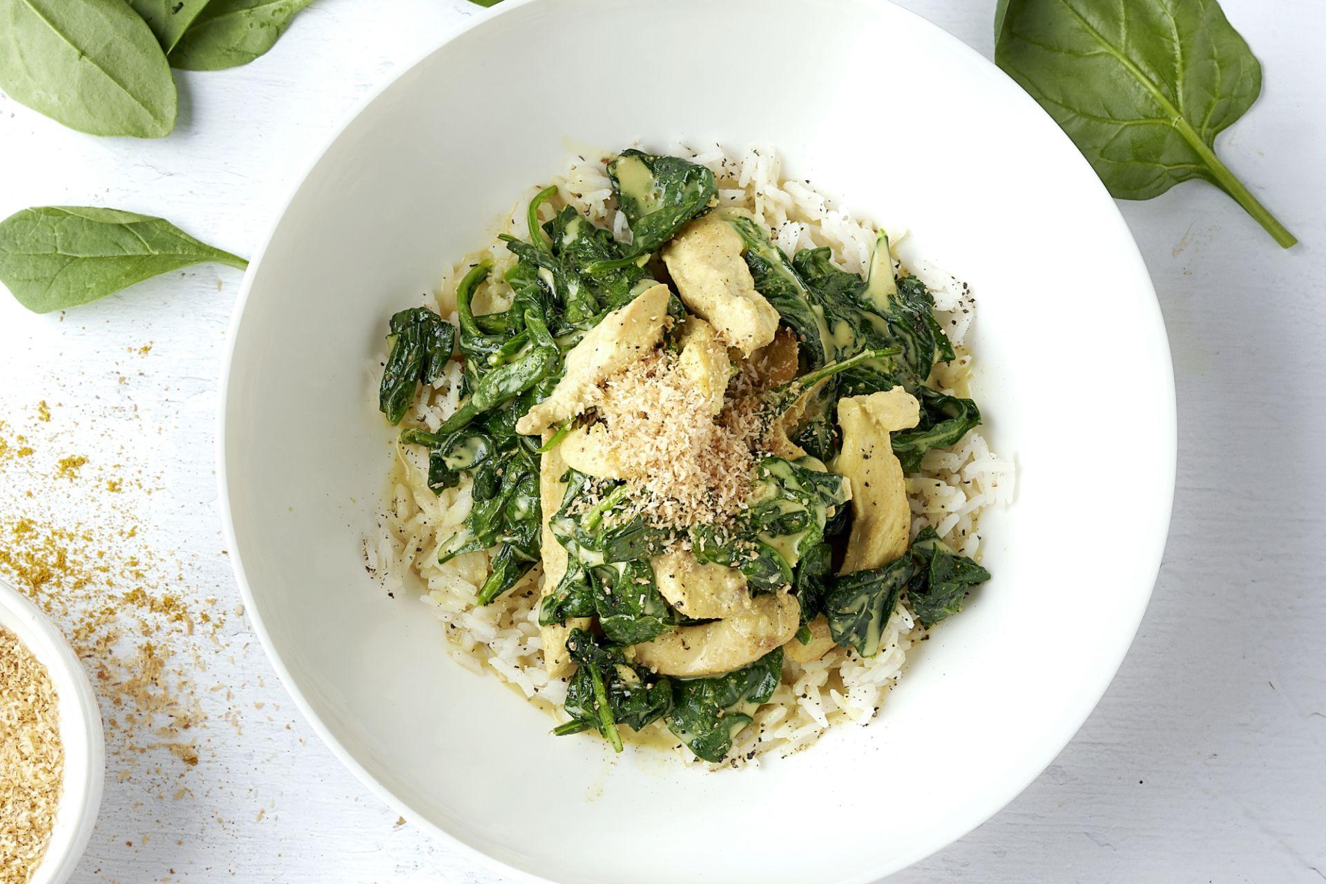 Colombo van kip met rijst