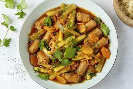 Foto van Stoofpotje met merguez en couscous