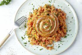Foto van Spaanse rijst met merguez