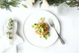 Foto van Tartaar van zalm met appel en avocado