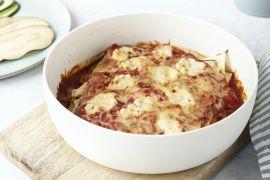 Foto van Lichte lasagne van courgette en aubergine
