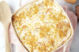 Foto van Moussaka met zoete aardappel en ricotta