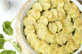 Foto van Aardappelgratin met gehakt en spinazie