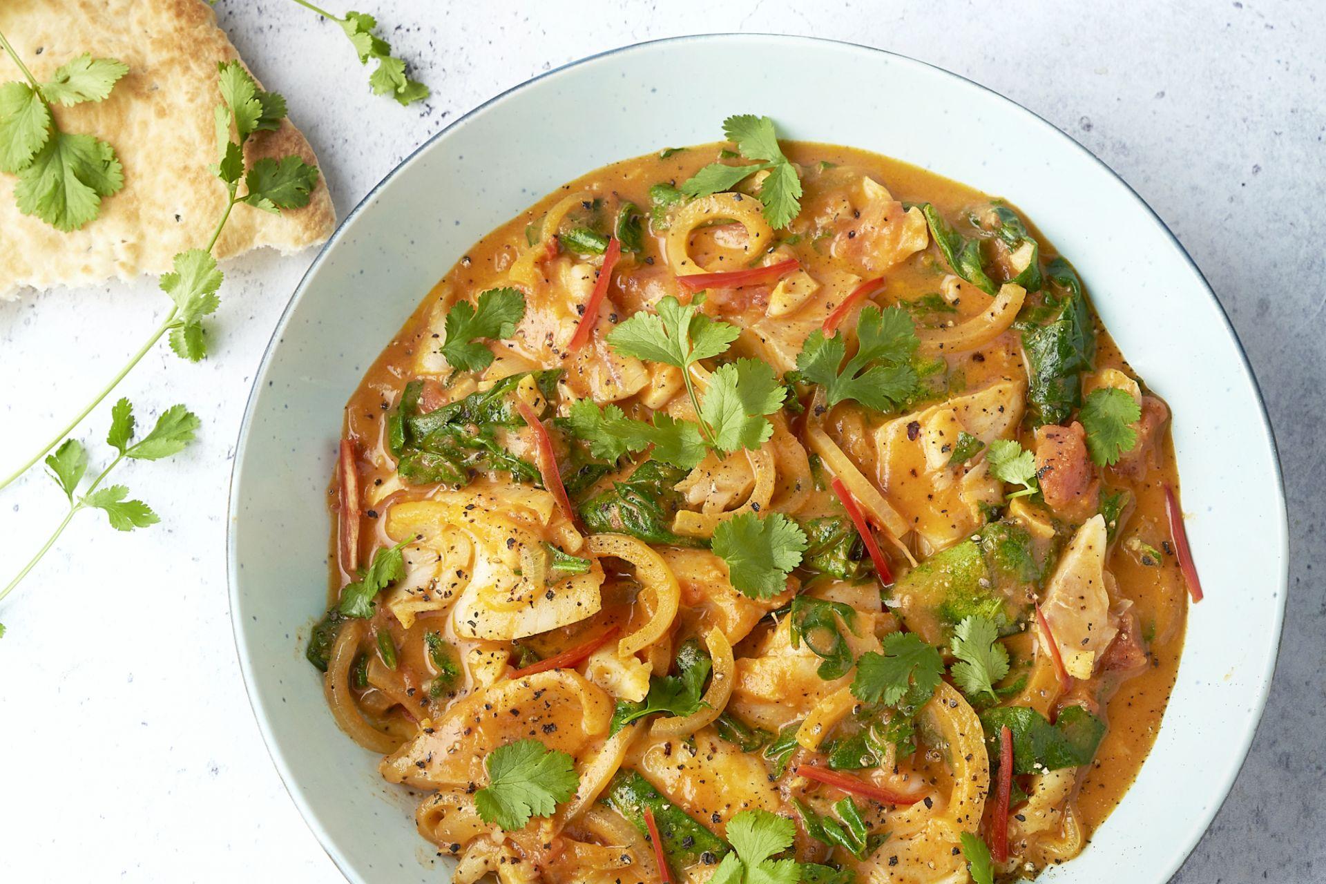 Indische curry met wijting