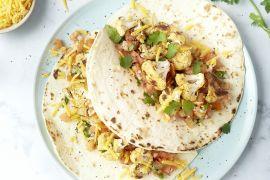 Foto van Taco's met geroosterde bloemkool, salsa en cheddar