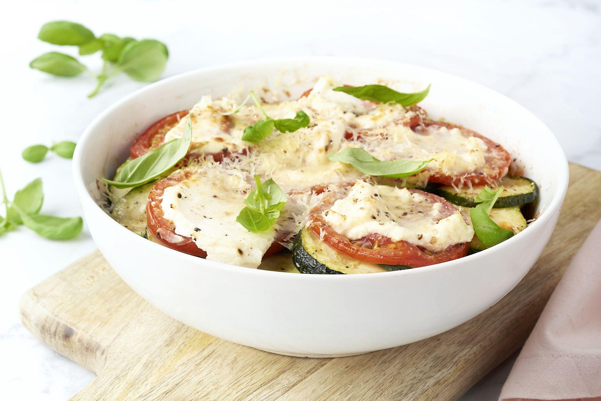 Mediterraanse groenteschotel met ricotta