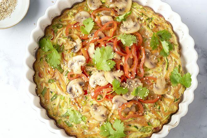 Aziatische omelet uit de oven