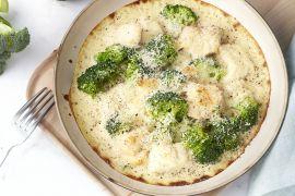 Foto van Gratin met vis en broccoli