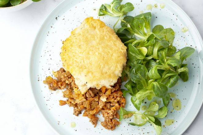Cottage pie met knolselderpuree