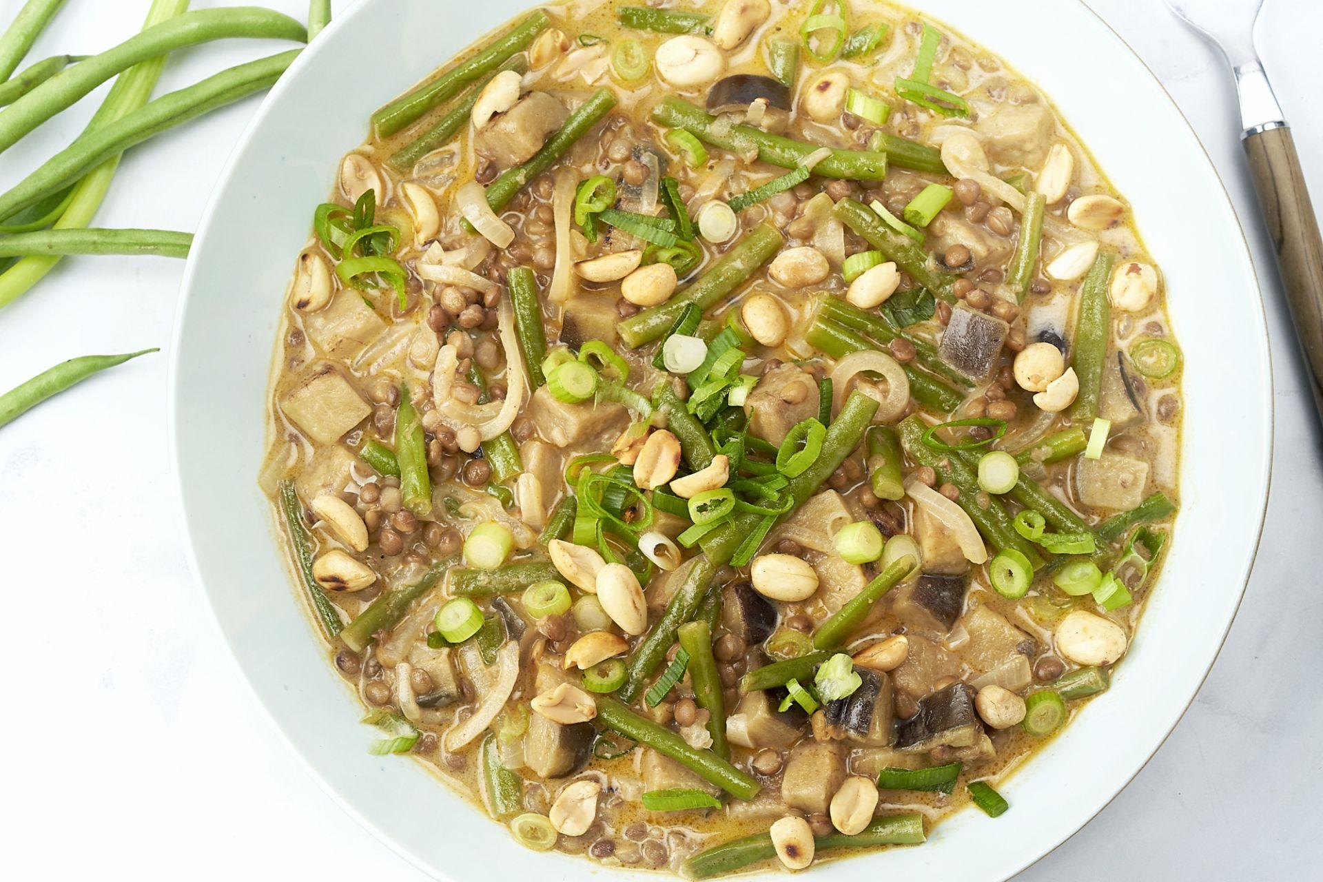 Panang groentecurry met linzen