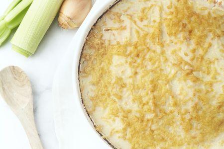 Ovenschotel met kip en bloemkoolsaus