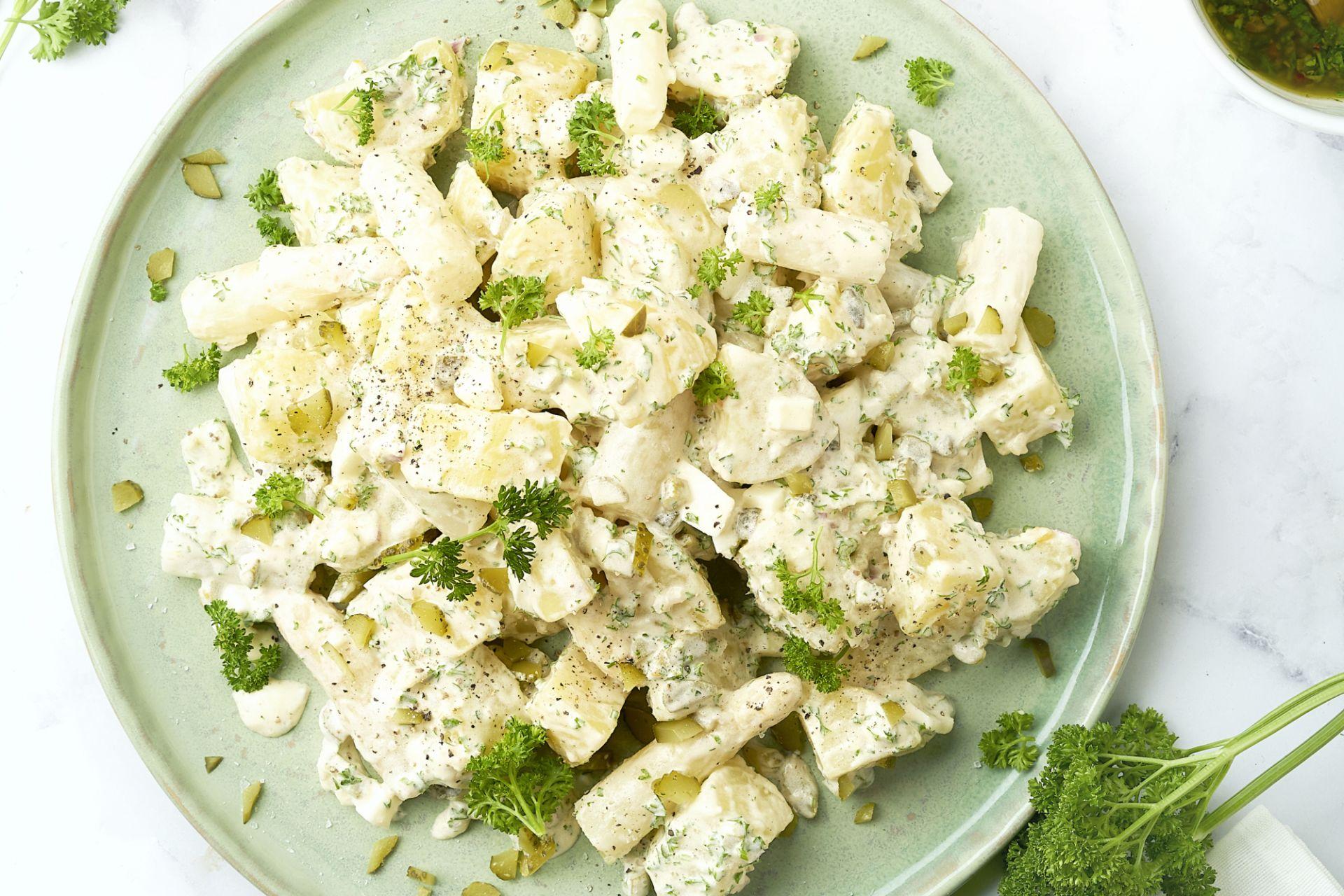 Aardappelsalade met asperges