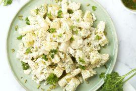 Foto van Aardappelsalade met asperges