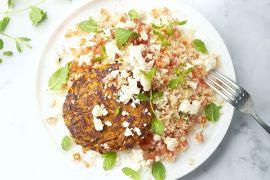 Foto van Wortelburgers met couscous en feta