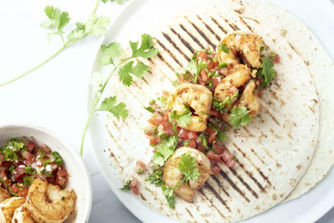 Snelle taco's met scampi's