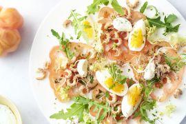 Foto van 'Tomaat garnaal' salade