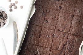 Foto van Brownies met rode biet