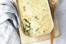 Foto van Ovenschotel met vis, broccoli en kruidenkaas