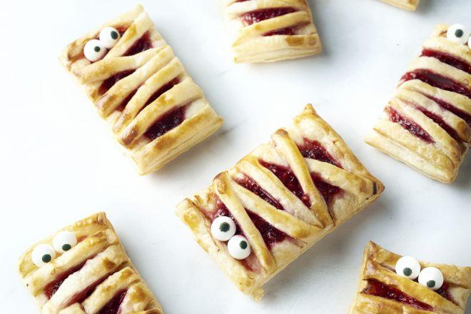 Mummie taartjes met frambozen