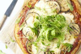 Foto van Pizza melanzane parmigiana