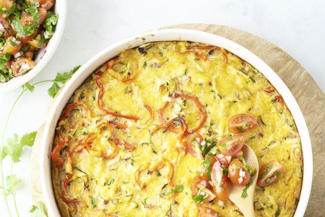 Mexicaanse omelet uit de oven
