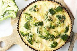 Foto van Quiche met zalm en broccoli