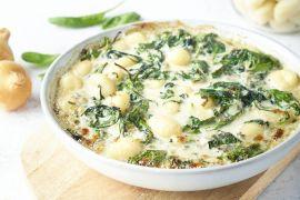 Foto van Gnocchi uit de oven met spinazie en kaas
